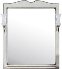 Зеркало ASB-Woodline Верона 75 бежевое, со светильниками