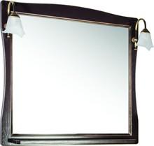 Зеркало ASB-Woodline Модена 85 орех, патина золото