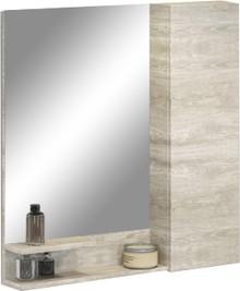 Зеркало-шкаф Comforty Верона 75 дуб белый