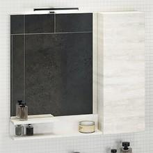 Зеркало-шкаф Comforty Верона 90 дуб белый