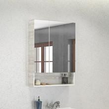Зеркало-шкаф Comforty Никосия 60 дуб белый