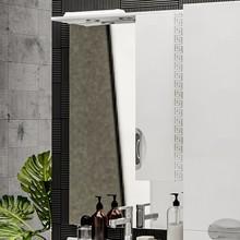 Зеркало-шкаф ValenHouse Ривьера 70 патина серебро, фурнитура хром