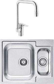 Комплект Мойка кухонная Alveus Line 50 + Смеситель VitrA Single sink mixer A42388EXP для кухонной мойки