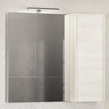 Зеркало-шкаф Comforty Бремен 90 дуб белый
