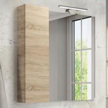 Зеркало-шкаф Comforty Тромсе 80 дуб сонома