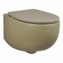 Унитаз подвесной безободковый AeT DOT 2.0 WC горчица матовый S555T0R0V6132 с сиденьем микролифт