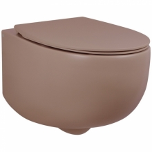 Унитаз подвесной безободковый AeT DOT 2.0 WC розовый матовый S555T0R0V6142 с сиденьем микролифт