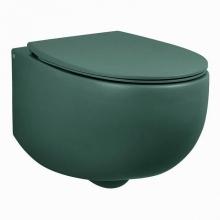 Унитаз подвесной безободковый AeT DOT 2.0 WC S555T0R0V6143 зеленый мох матовый с сиденьем микролифт